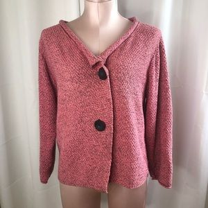 Habitat Clothes to Live in Pink Marled Cardigan
